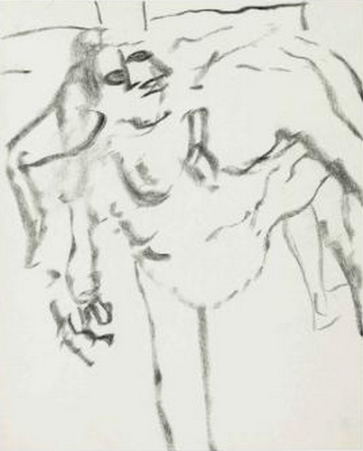 Willem de Kooning-Untitled (Figure Drawing)-1970