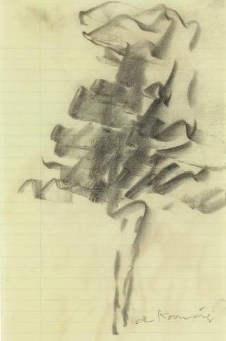 Willem de Kooning-Untitled (Figure Drawing)-1972