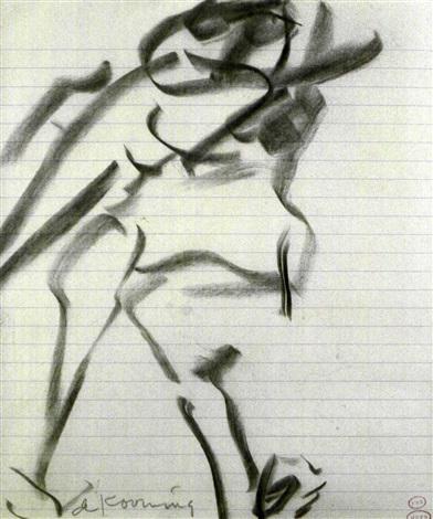 Willem de Kooning-Untitled (Figurliche Darstellung)-1972