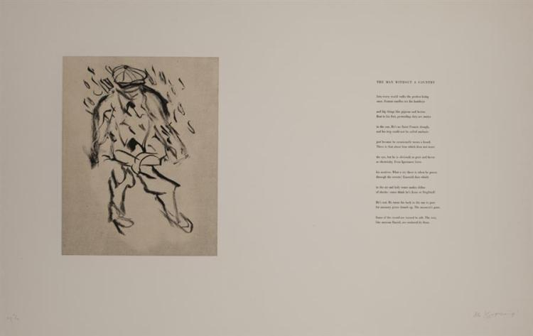 Willem de Kooning-Untitled (From Hommage to Frank O'Hara)-1988