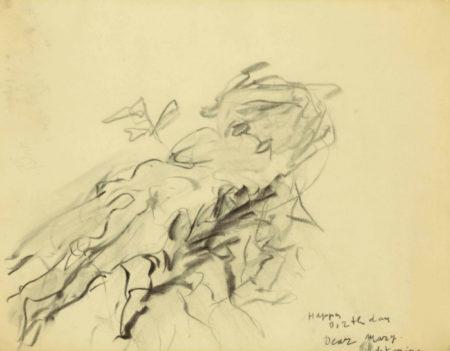 Willem de Kooning-Untitled (Happy Birthday, Dear Marry)-1980