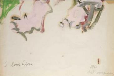 Willem de Kooning-Untitled ('I love Lisa')-1960