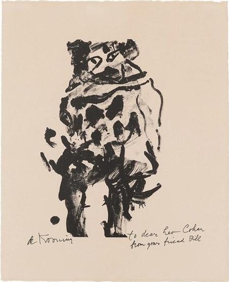 Willem de Kooning-Untitled (Litho#10 Man Standing, Facing Forward)-1966