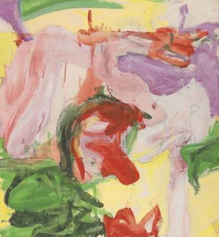 Willem de Kooning-Untitled (Oil and Masking Tape)-1971