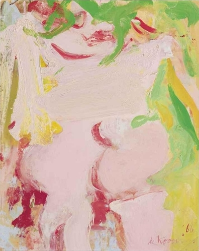 Willem de Kooning-Untitled (Oil and masking tape on Paper mounted on Canvas)-1966