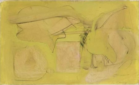 Willem de Kooning-Untitled (Oil, Charcoal and Graphite on Paper)-1946