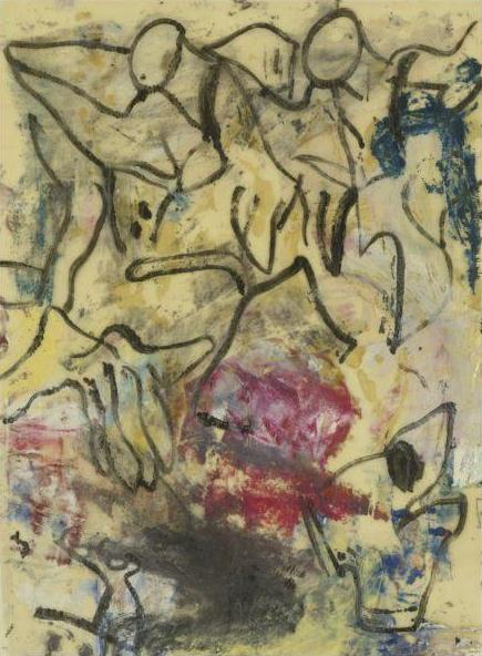 Willem de Kooning-Untitled (Oil on Vellum)-1970