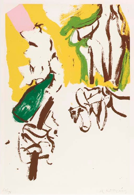 Willem de Kooning-Untitled (Screenprint in Colors)-1972