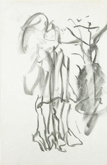 Willem de Kooning-Untitled (Standing Figure, Charcoal)-