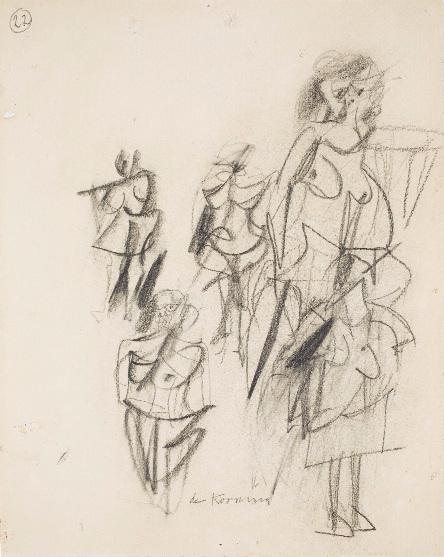 Willem de Kooning-Untitled (Standing Women)-1953