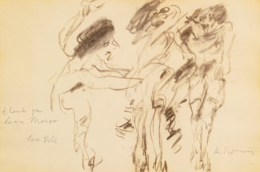 Willem de Kooning-Untitled (Three Women, 'Thank you, Dear Margo')-1968