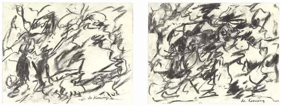 Willem de Kooning-Untitled (Two Abstract Drawings)-1980