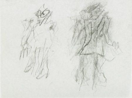 Willem de Kooning-Untitled (Two Standing Figures)-