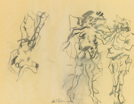 Willem de Kooning-Untitled (Two Standing Figures, One Reverse)-1967