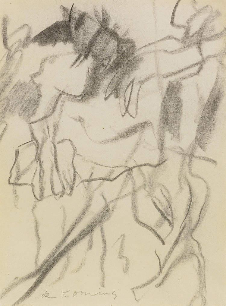 Willem de Kooning-Untitled (Two Women)-1964