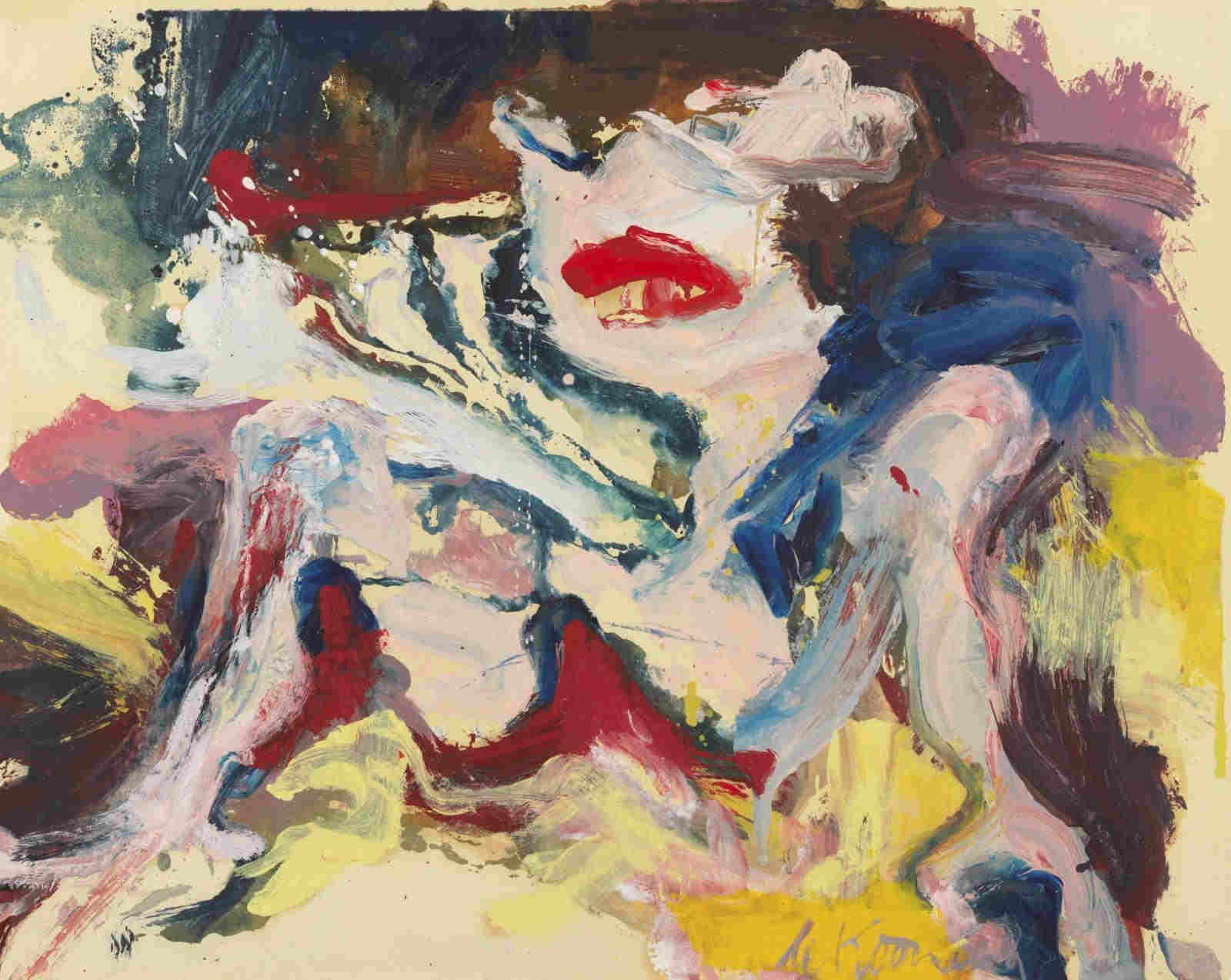 Willem de Kooning-Untitled (Woman)-1966