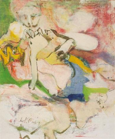 Willem de Kooning-Untitled (Woman, Oil on Canvas)-1966