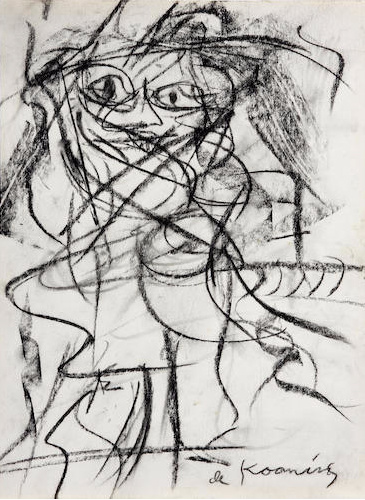 Willem de Kooning-Untitled (Woman Series)-1950