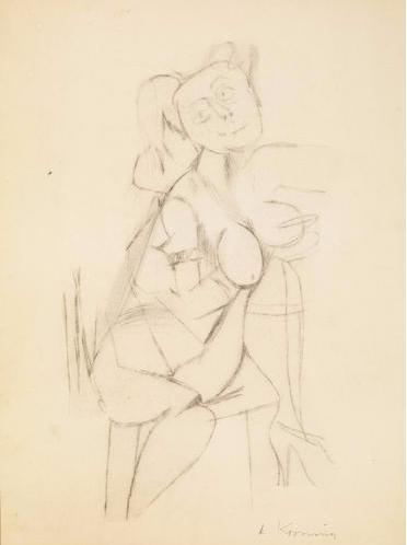 Willem de Kooning-Untitled (Woman Sitting)-1944