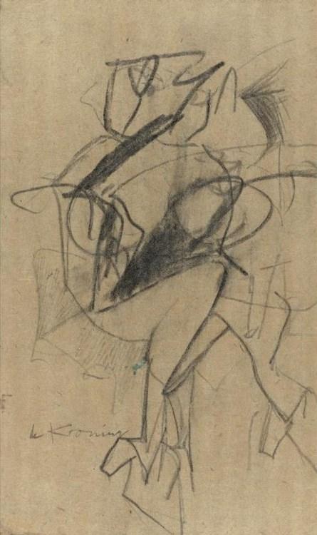Willem de Kooning-Untitled (Woman Sitting)-1952