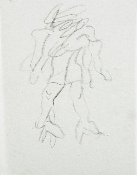 Willem de Kooning-Untitled (Woman Standing)-
