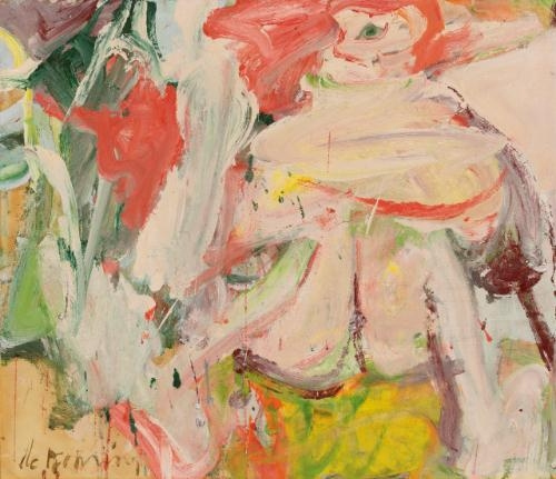 Willem de Kooning-Untitled (Woman in a Forest)-1964