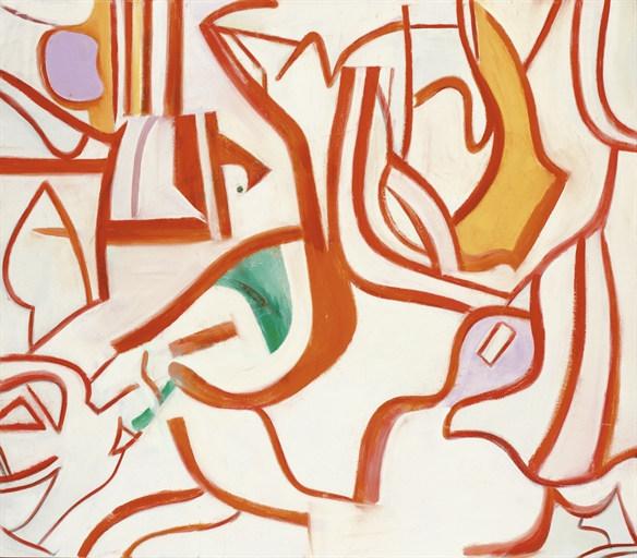 Willem de Kooning-Untitled XVIII-1986