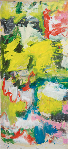 Willem de Kooning-Untitled (Yellow, Red, Blue, Black and White Abstract Painting)-1974
