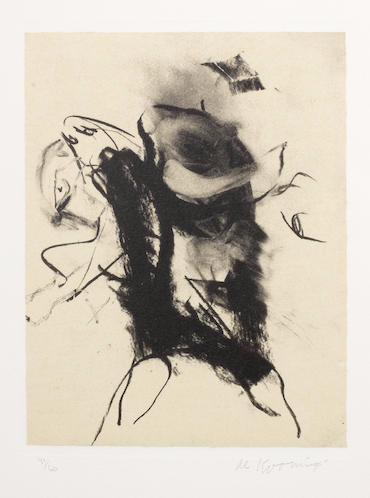 Willem de Kooning-Untitled (from Seventeen Lithographs for Frank O'Hara)-1988