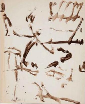 Willem de Kooning-Untitled (Sumi Ink on Paper)-