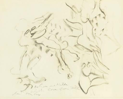 Willem de Kooning-Untitled (to Lou and Hilda)-