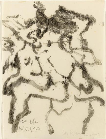 Willem de Kooning-Untitled (' to the N.C.V.A')-1978