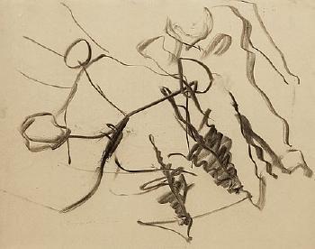 Willem de Kooning-Untitled, Woman in a Landscape-1978