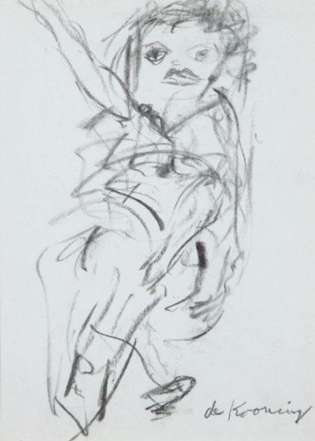Willem de Kooning-Untitled (Woman Drawing)-