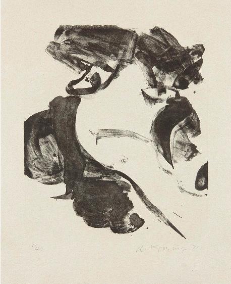 Willem de Kooning-With Love-1971