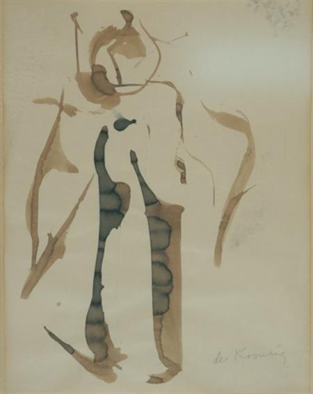 Willem de Kooning-Woman (Ink)-1959