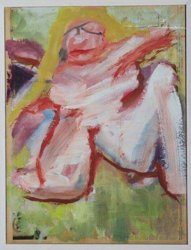 Willem de Kooning-Woman (Blonde Hair)-1960