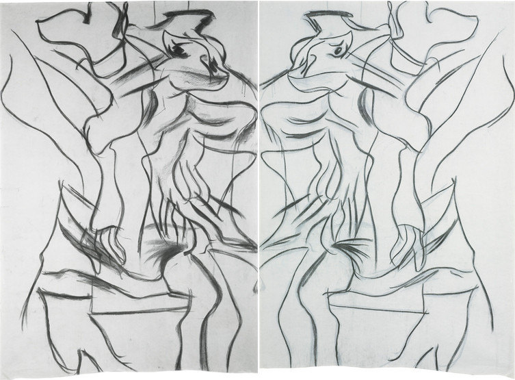 Willem de Kooning-Woman (Double-sided Drawing)-1983