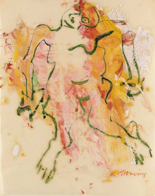 Willem de Kooning-Woman (Green)-1966