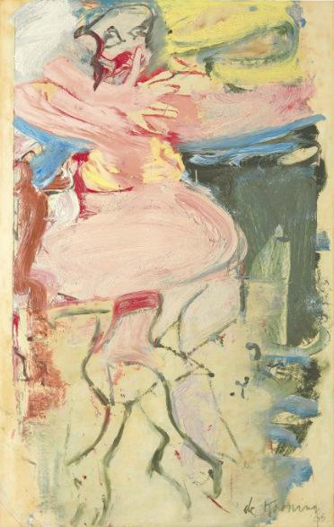 Willem de Kooning-Woman, Hand Before Face-1965