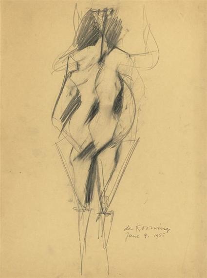 Willem de Kooning-Woman (June 9)-1955