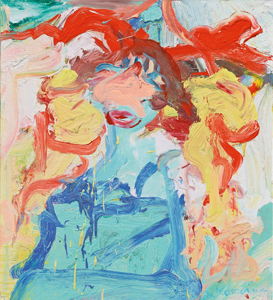 Willem de Kooning-Woman (Red, Yellow and Light Blue Painting)-1972