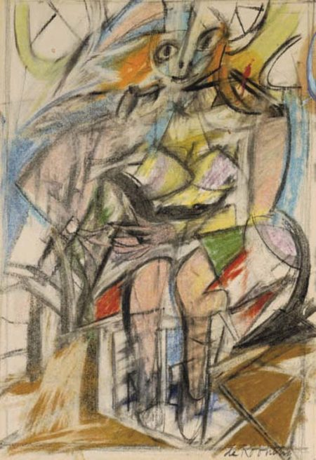 Willem de Kooning-Woman (Seated Woman I)-1952
