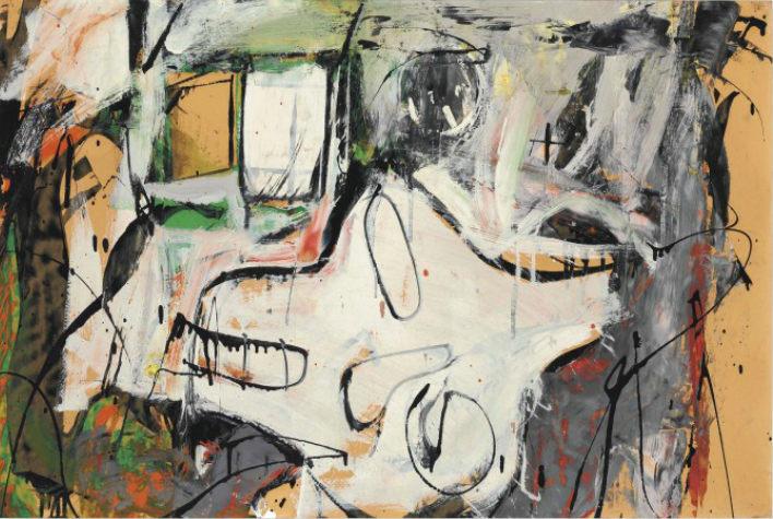 Willem de Kooning-Woman, Wind, and Window-1950