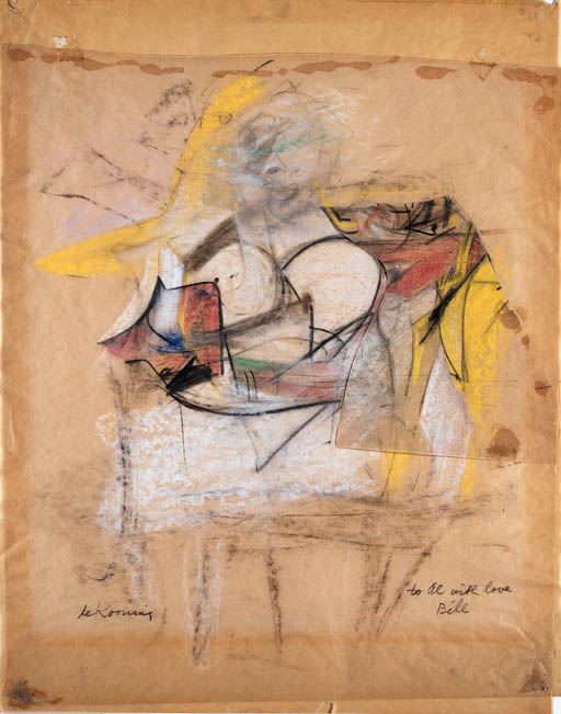 Willem de Kooning-Woman (With Love, Bill)-1953