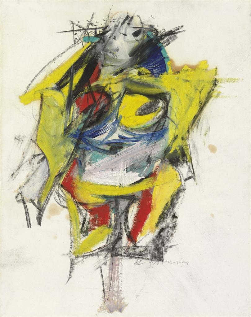 Willem de Kooning-Woman (Yellow Arms and Legs)-1953