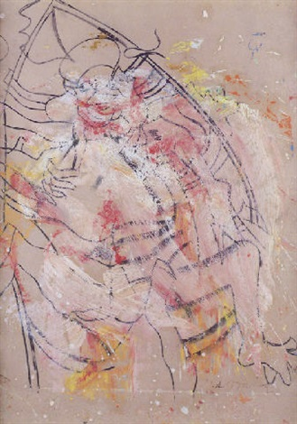 Willem de Kooning-Woman in a Rowboat with Bonnet-1964