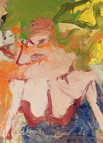Willem de Kooning-Woman on a Sign II-1967