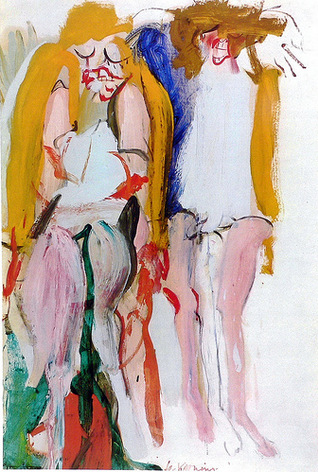 Willem de Kooning-Women Singing I-1966