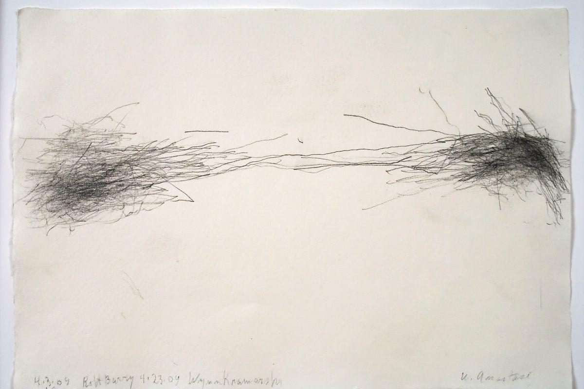 William Anastasi - Untitled (Subway Drawing), detail, 2009